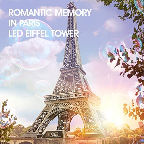 Cubicfun Puzzle 3d Torre Eiffel Con Brillanti Luci A Led Romantico Paris Architettura Kit Di Modellismo Decorazione Regalo Per Adulti Bambini 84 Pezzi 0 0