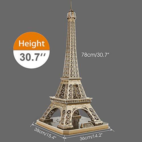 Cubicfun Puzzle 3d Torre Eiffel Con Brillanti Luci A Led Romantico Paris Architettura Kit Di Modellismo Decorazione Regalo Per Adulti Bambini 84 Pezzi 0 3