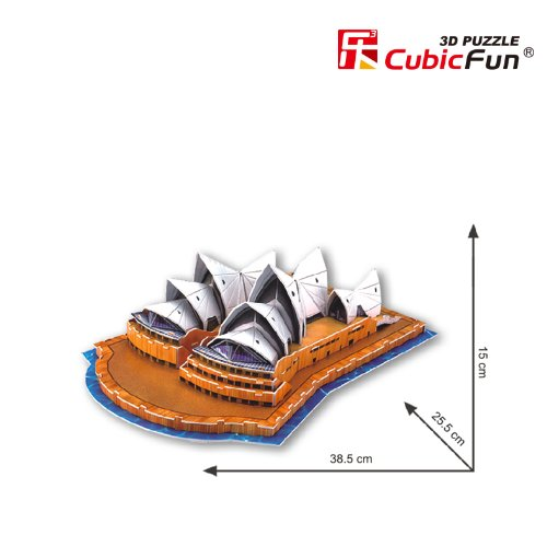 Cubicfun Puzzle 3d C Serie Teatro Dellopera Di Sydney 58 Pezzi 0 1