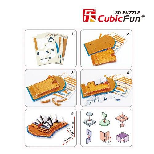 Cubicfun Puzzle 3d C Serie Teatro Dellopera Di Sydney 58 Pezzi 0 2