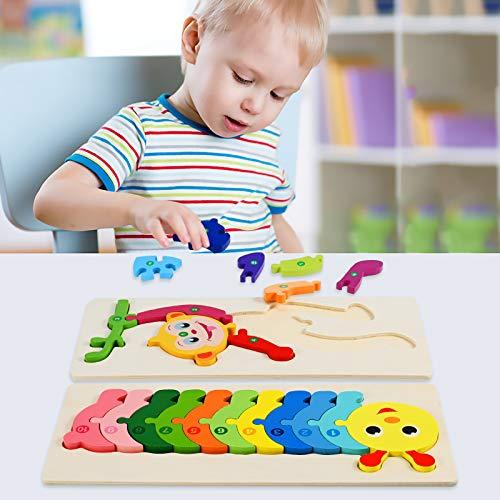 Faburo 4pcs Animali Da Puzzle In Legno Giocattoli Bambini Animali Da Puzzle Di Legno Numero Educativo Giochi Set Regalo Per 3 4 5 6 Anni Bambina 0 3
