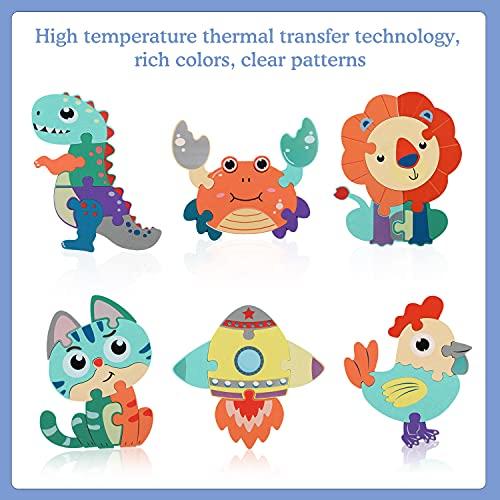 Fascol Puzzle Legno Bambini 6 Pezzi Puzzle Di Set Con Lettere E Animali Puzzle Educativo Giocattoli In Legno Multicolore Per Bambini Superiore A 15 Anni 0 0