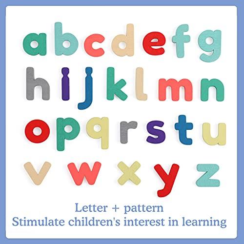 Fascol Puzzle Legno Bambini 6 Pezzi Puzzle Di Set Con Lettere E Animali Puzzle Educativo Giocattoli In Legno Multicolore Per Bambini Superiore A 15 Anni 0 1