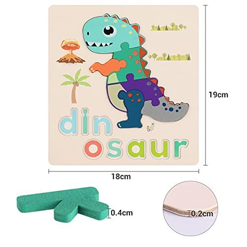 Fascol Puzzle Legno Bambini 6 Pezzi Puzzle Di Set Con Lettere E Animali Puzzle Educativo Giocattoli In Legno Multicolore Per Bambini Superiore A 15 Anni 0 4