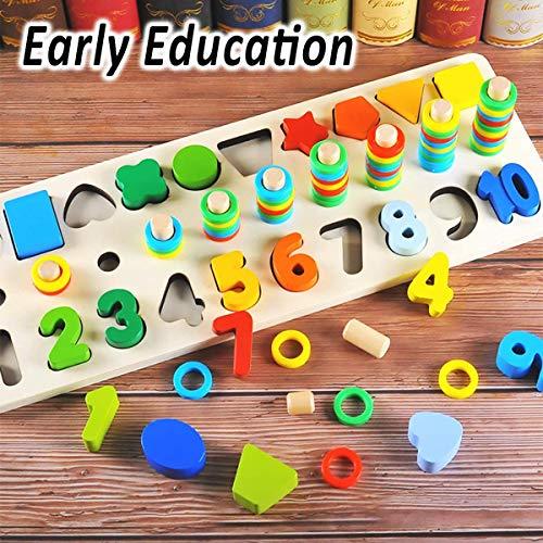 Felly Giochi Bambini 1 2 3 Anni Giocattoli Educativi Montessori Da Puzzle In Legno Anelli Impilabili Per Imparare La Matematica Contare E Imparare I Colori Giochi Educativo Set Regalo 0 0