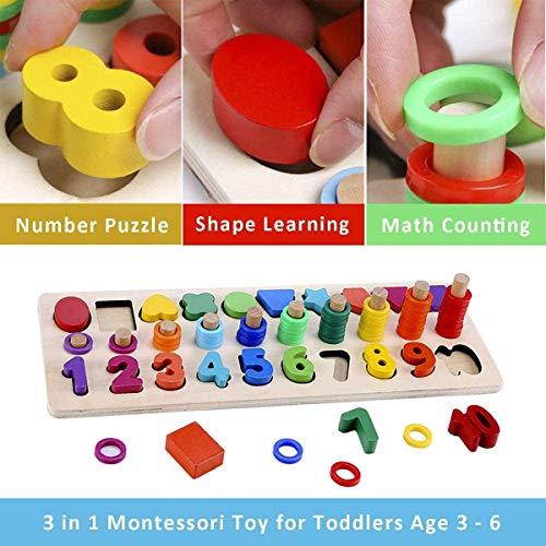 Felly Giochi Bambini 1 2 3 Anni Giocattoli Educativi Montessori Da Puzzle In Legno Anelli Impilabili Per Imparare La Matematica Contare E Imparare I Colori Giochi Educativo Set Regalo 0 5