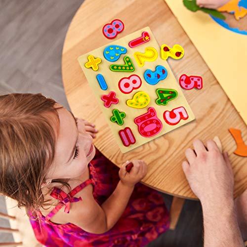 Gwhole 2 Pz Puzzle In Legno Per Bambini Set Giochi Bambino Montessori Giocattoli Educativi Numeri Lettere Alfabeto 3d Strumenti Didattici Scuola Materna 0 4