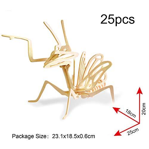 Georgie Porgy 3d Puzzle Di Legno Modello Collezione Di Modelli Animali Traffico Woodcraft Costruzione Impostato Bambini Giocattoli Per Ragazzi E Ragazze Eta 5 3 Pezzo Cricket Mantis Scorpion 0 1