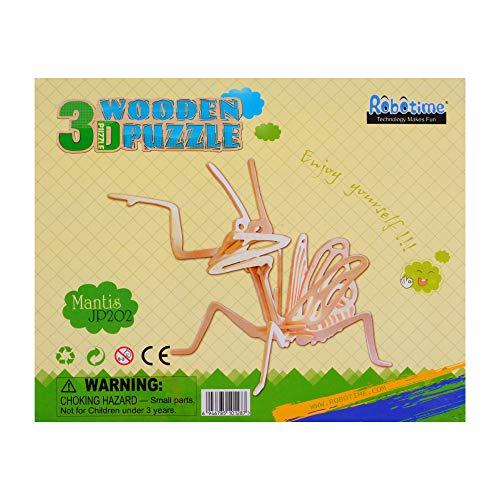 Georgie Porgy 3d Puzzle Di Legno Modello Collezione Di Modelli Animali Traffico Woodcraft Costruzione Impostato Bambini Giocattoli Per Ragazzi E Ragazze Eta 5 3 Pezzo Cricket Mantis Scorpion 0 4