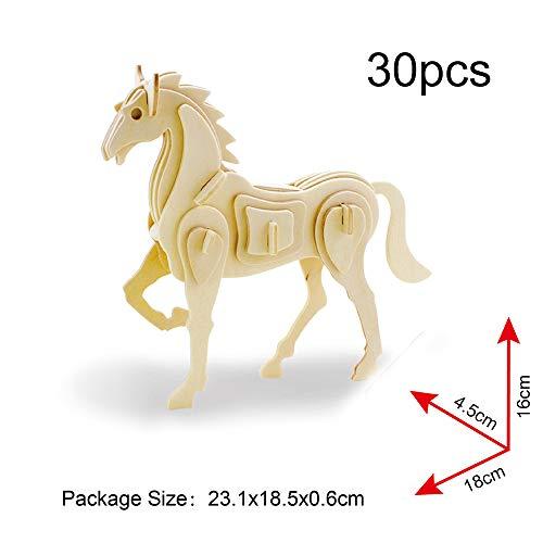 Georgie Porgy 3d Puzzle Di Legno Modello Collezione Di Modelli Animali Traffico Woodcraft Costruzione Impostato Bambini Giocattoli Per Ragazzi E Ragazze Eta 5 3 Pezzo Pavone Coniglio Cavallo 0 0