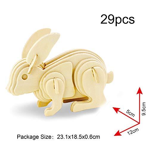Georgie Porgy 3d Puzzle Di Legno Modello Collezione Di Modelli Animali Traffico Woodcraft Costruzione Impostato Bambini Giocattoli Per Ragazzi E Ragazze Eta 5 3 Pezzo Pavone Coniglio Cavallo 0 1