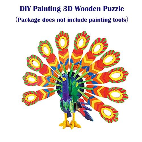 Georgie Porgy 3d Puzzle Di Legno Modello Collezione Di Modelli Animali Traffico Woodcraft Costruzione Impostato Bambini Giocattoli Per Ragazzi E Ragazze Eta 5 3 Pezzo Pavone Coniglio Cavallo 0 3