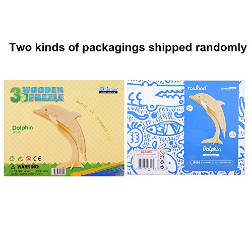 Georgie Porgy 3d Wooden Puzzle Dolphin Model Woodcraft Construction Kit Giocattolo Per Bambini Jp296 Dolphin 15pcs 0 1