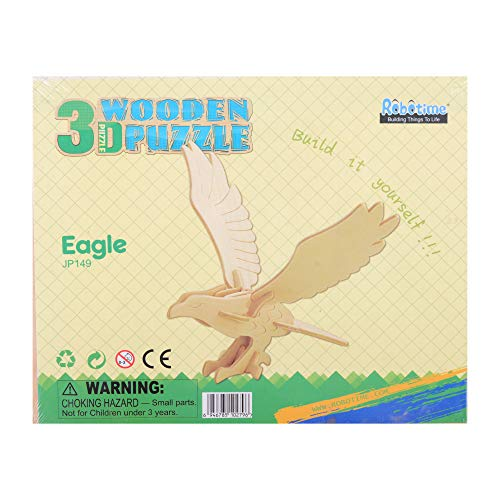 Georgie Porgy 3d Wooden Puzzle Eagle Model Woodcraft Construction Kit Giocattoli Per Bambini Jp149 Eagle 13pcs 0 3