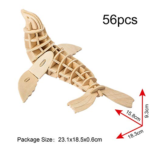 Georgie Porgy Puzzle In Legno 3d Collezione Di Modelli Animali Traffico Confezione Da 3 Kit Per Costruzioni In Legno Kids Jigsaw Toy Eta 5 Leone Marino Tartaruga Delfino 0 0