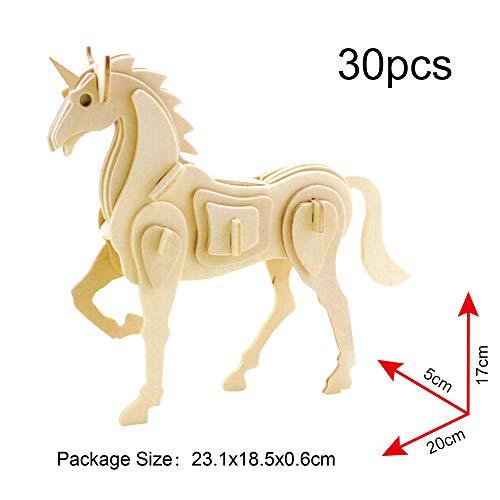 Georgy Porgy 3d Puzzle Di Legno Modello Collezione Di Modelli Animali Traffico Woodcraft Costruzione Impostato Bambini Giocattoli Per Ragazzi E Ragazze Eta 5 3 Pezzo Cavallo Canguro Fenicotteri 0 1
