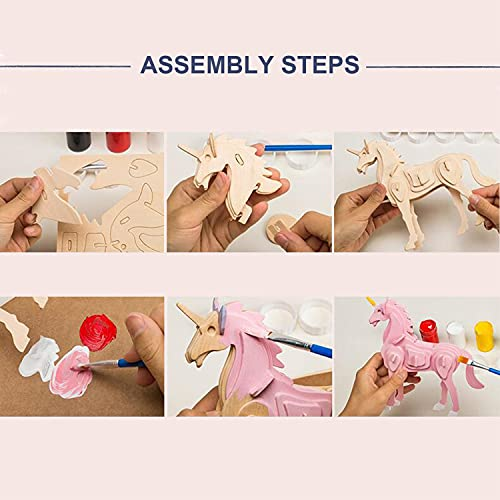 Georgy Porgy 3d Puzzle Di Legno Modello Collezione Di Modelli Animali Traffico Woodcraft Costruzione Impostato Bambini Giocattoli Per Ragazzi E Ragazze Eta 5 3 Pezzo Cavallo Canguro Fenicotteri 0 3