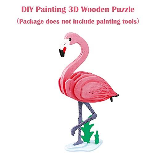 Georgy Porgy 3d Puzzle Di Legno Modello Collezione Di Modelli Animali Traffico Woodcraft Costruzione Impostato Bambini Giocattoli Per Ragazzi E Ragazze Eta 5 3 Pezzo Cavallo Canguro Fenicotteri 0 4