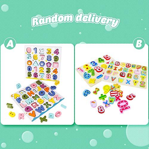 Giochi Bambini Puzzle Legno Bambina Bambino 2 3 4 Anni 2 In 1 Puzzle Lettere Numero Set Montessori Educativi Regalo Multicolore 0 0