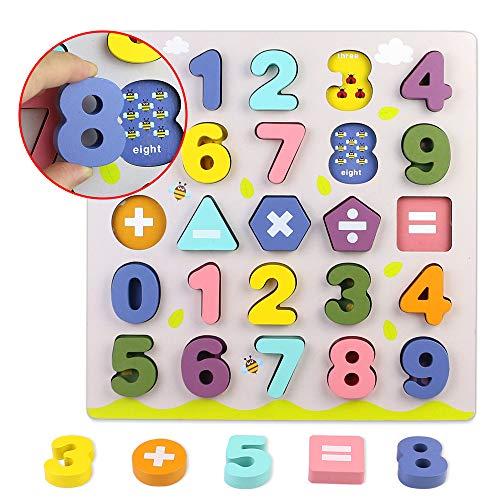 Giochi Bambini Puzzle Legno Bambina Bambino 2 3 4 Anni 2 In 1 Puzzle Lettere Numero Set Montessori Educativi Regalo Multicolore 0 4