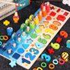 Giochi Educativi Montessori Gioco Pesca Magnetica In Legno Per Imparare I Colori E La Matematica 0 0