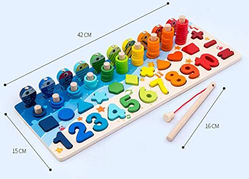 Giochi Educativi Montessori Gioco Pesca Magnetica In Legno Per Imparare I Colori E La Matematica 0 2