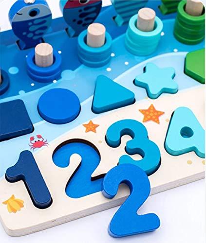 Giochi Educativi Montessori Gioco Pesca Magnetica In Legno Per Imparare I Colori E La Matematica 0 3