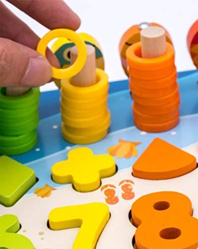 Giochi Educativi Montessori Gioco Pesca Magnetica In Legno Per Imparare I Colori E La Matematica 0 4