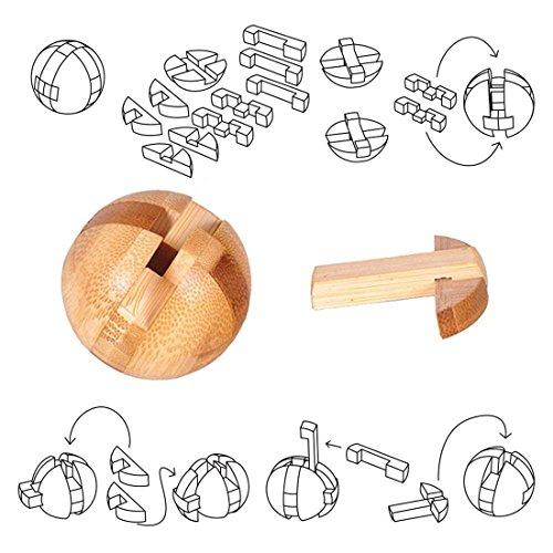 Holzsammlung Set Da 9 Rompicapo In Legno Gioco Di Cube 3d Puzzle Perfetto Regalo Di Natale Per I Tuoi Famiglia Taglia Piccola23 0 0