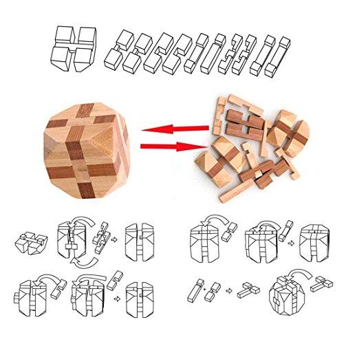 Holzsammlung Set Da 9 Rompicapo In Legno Gioco Di Cube 3d Puzzle Perfetto Regalo Di Natale Per I Tuoi Famiglia Taglia Piccola23 0 3