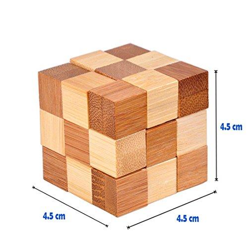 Holzsammlung Set Da 9 Rompicapo In Legno Gioco Di Cube 3d Puzzle Perfetto Regalo Di Natale Per I Tuoi Famiglia Taglia Piccola23 0 5