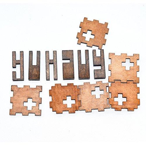 Joyeee Legno Rompicapo Torsione Cube Puzzle Game 3d Gioco Di Mente Cubo 11 0 2