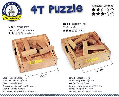 Logica Giochi Art 4t Puzzle Rompicapo Geometrico In Legno 5 Giochi In 1 Gioco Educativo Scatola Richiudibile Serie Euclide 0 0