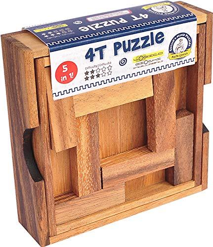 Logica Giochi Art 4t Puzzle Rompicapo Geometrico In Legno 5 Giochi In 1 Gioco Educativo Scatola Richiudibile Serie Euclide 0 1