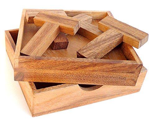 Logica Giochi Art 4t Puzzle Rompicapo Geometrico In Legno 5 Giochi In 1 Gioco Educativo Scatola Richiudibile Serie Euclide 0
