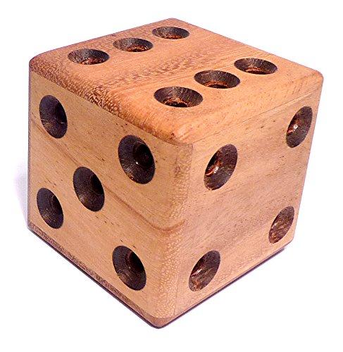 Logica Giochi Art Dado Labirinto Rompicapo 3d Ad Incastro In Legno Difficolta 46 Estremo Serie Da Collezione Leonardo Da Vinci 0