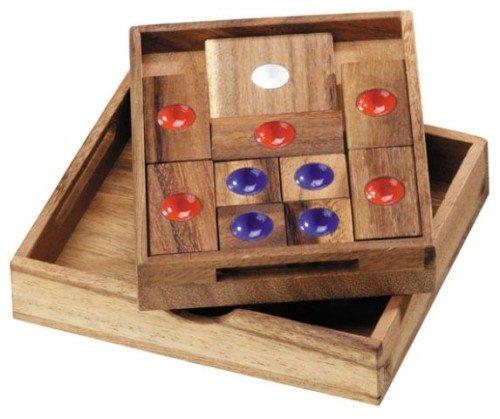 Logica Giochi Art Fuga Dalla Prigione Khun Phaen Klotski Rompicapo In Legno 16 Giochi In 1 Difficolta Miste 0 1