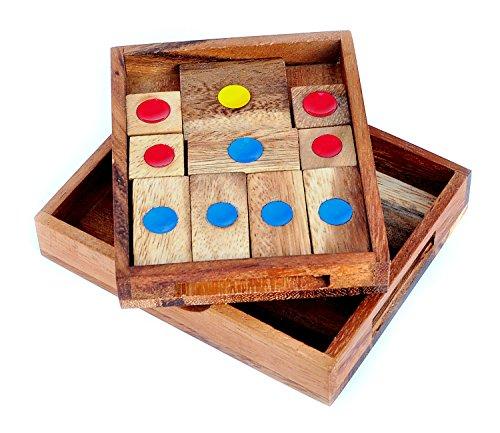 Logica Giochi Art Fuga Dalla Prigione Khun Phaen Klotski Rompicapo In Legno 16 Giochi In 1 Difficolta Miste 0