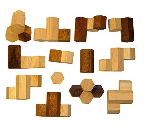 Logica Giochi Art Nido Delle Api Rompicapo In Legno Difficolta 56 Incredibile Rompicapo Per Esperti Serie Leonardo Da Vinci 0 0