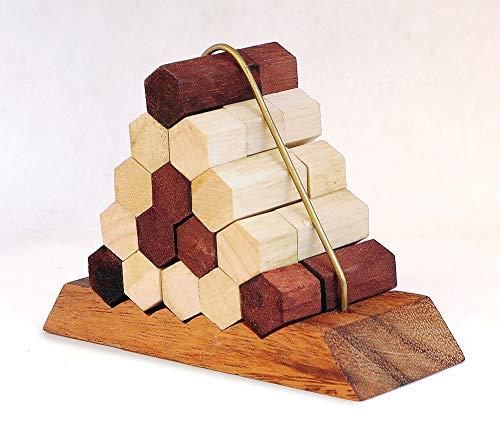 Logica Giochi Art Nido Delle Api Rompicapo In Legno Difficolta 56 Incredibile Rompicapo Per Esperti Serie Leonardo Da Vinci 0 1