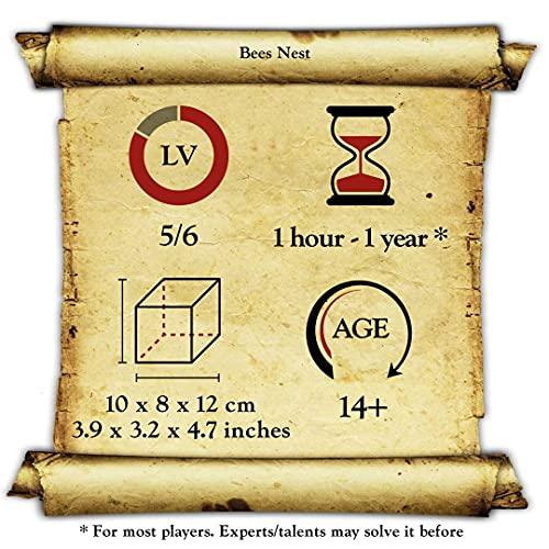 Logica Giochi Art Nido Delle Api Rompicapo In Legno Difficolta 56 Incredibile Rompicapo Per Esperti Serie Leonardo Da Vinci 0 2