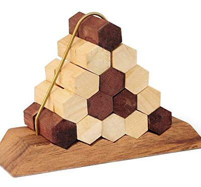 Logica Giochi Art Nido Delle Api Rompicapo In Legno Difficolta 56 Incredibile Rompicapo Per Esperti Serie Leonardo Da Vinci 0