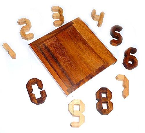Logica Giochi Art Numeri Rompicapo Geometrico In Legno Prezioso Difficolta 46 Estremo Serie Euclide 0 0