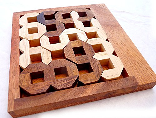 Logica Giochi Art Numeri Rompicapo Geometrico In Legno Prezioso Difficolta 46 Estremo Serie Euclide 0