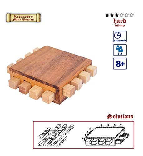 Logica Giochi Art Processore Rompicapo Ad Incastro In Legno Difficolta 36 Difficile Per Menti Ad Alte Prestazioni Serie Leonardo Da Vinci 0 1