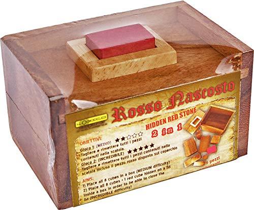Logica Giochi Art Rosso Nascosto Rompicapo 3d In Legno 2 Giochi In 1 Serie Leonardo Da Vinci 0 4