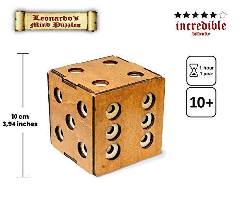 Logica Giochi Art Scrigno Dado Enigmatico Rompicapo In Legno Scatola Segreta Difficolta 56 Incredibile Serie Leonardo Da Vinci 0 0