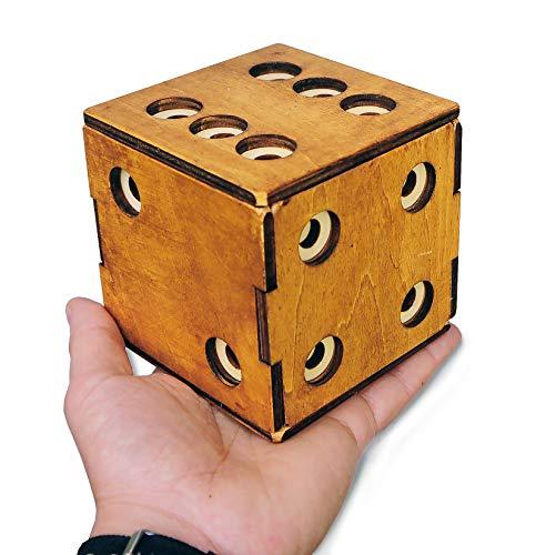 Logica Giochi Art Scrigno Dado Enigmatico Rompicapo In Legno Scatola Segreta Difficolta 56 Incredibile Serie Leonardo Da Vinci 0 1