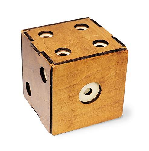 Logica Giochi Art Scrigno Dado Enigmatico Rompicapo In Legno Scatola Segreta Difficolta 56 Incredibile Serie Leonardo Da Vinci 0 2