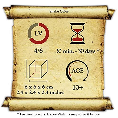 Logica Giochi Art Serpentino Arancione Rompicapo In Legno 3d Il Serpente Che Diventa Un Cubo Difficolta 46 Estremo Serie Da Collezione Leonardo Da Vinci 0 3